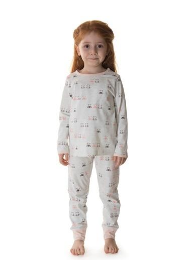 Hays Kız Çocuk Penye 2li Uzun Pijama Takımı Pembe